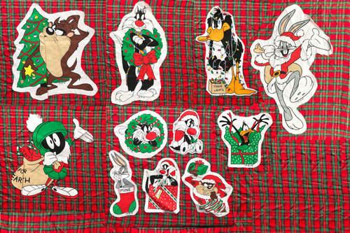 Vintage 1994 Looney Tunes Christmas Applique Set 11 Pieces