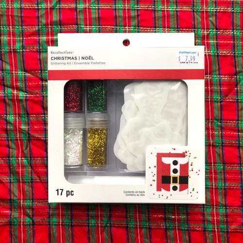 Recollections Christmas Glittering Kit 17 Pieces