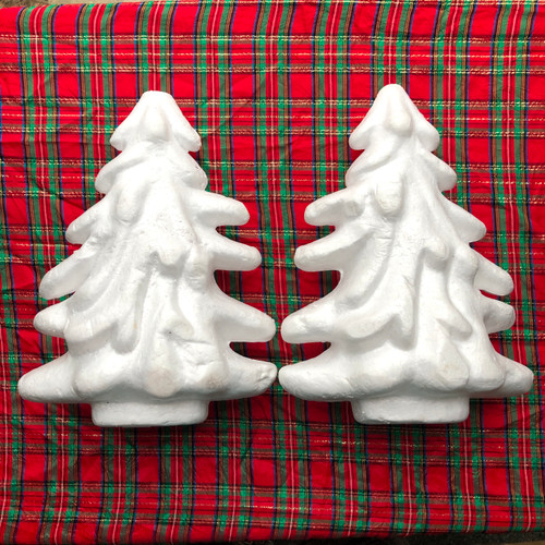 Styrofoam Form Christmas Trees 2 Ct