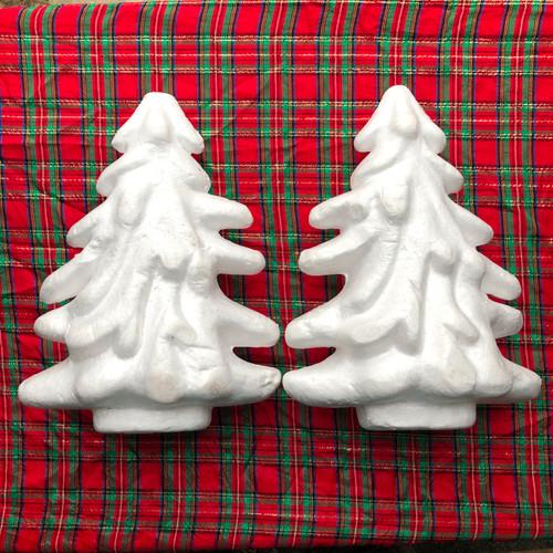 Styrofoam Form Christmas Trees 2 Ct