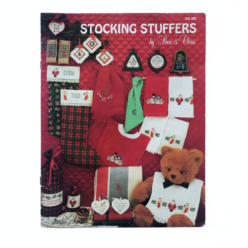 Vintage Cross Stitch Pattern Booklet Stocking Stuffers by Bea & Chris