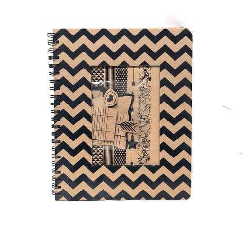 """Kraft Paper Junk Journal Wire Bound Hardcover 9 x 11"""""""