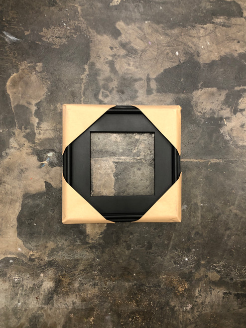 Plein Air Frame Matte Black on Wood 8 x 8""