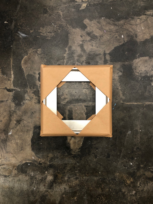 "Plein Air Frame Silver on Wood 8 x 8"""