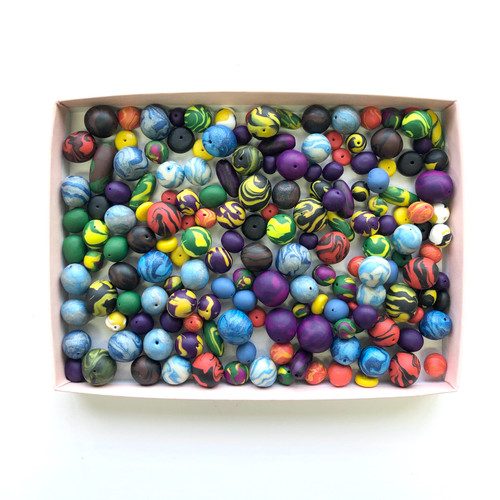 Handmade Polymer Clay Beads 8 oz.