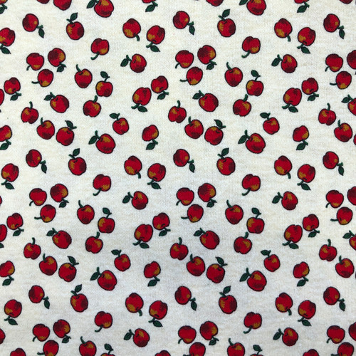 Cranston Print Works Apple Cotton Knit Fabric 1 1/4y