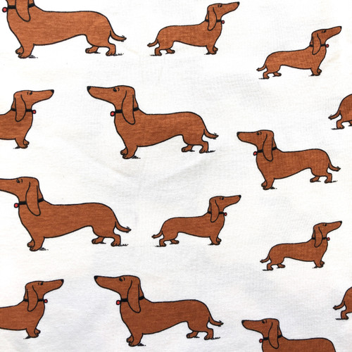 Dachshund Cotton Knit Fabric 1 1/4y