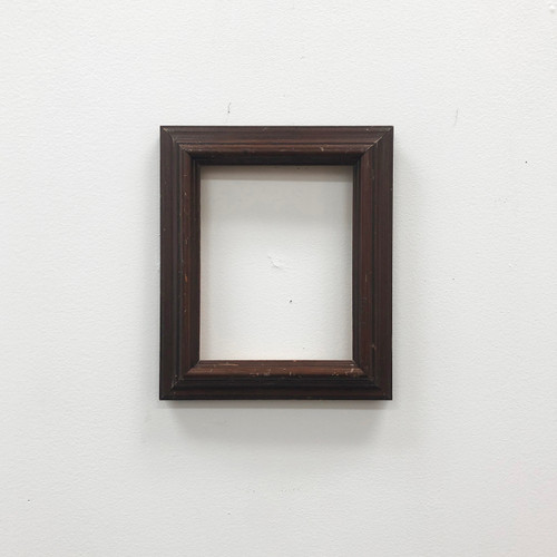 Readymade Picture Frame Walnut Wood 6 x 7 1/2""