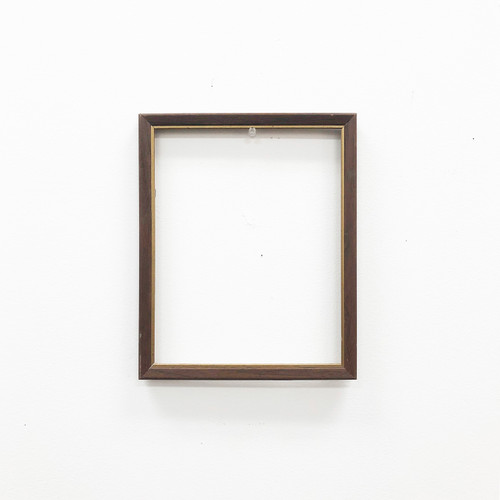 """Readymade Picture Frame Wood Grain with Gold Trim 8 x 10"""""""