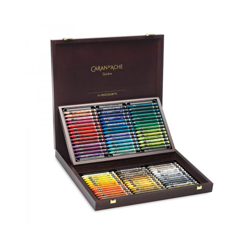 Caran D'Ache Neocolor II Water-Soluble Pastels Wooden Box 84 Count