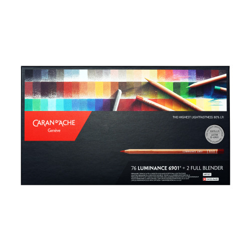 Caran D'Ache Luminance 6901 Colored Pencils Box 78 Count