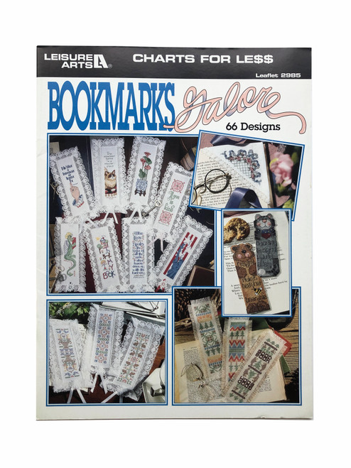 Vintage Leisure Arts Bookmarks Galore 66 Designs Charts for Less Leaflet 2985 Cross Stitch Pattern Booklet