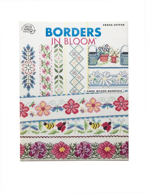 American School of Needlework Borders in Bloom by Carol Wilson Mansfield 3748 Cross Stitch Pattern Booklet Charts Leaflet