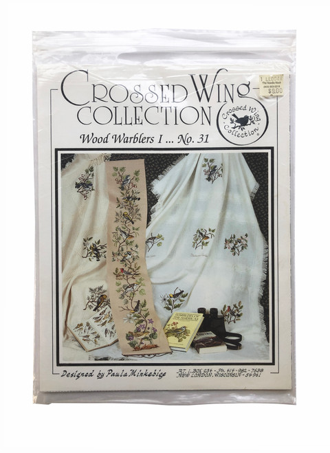 Vintage Crossed Wing Collection Wood Warblers I by Paula Minkebige 31 Cross Stitch Pattern Booklet Charts Leaflet