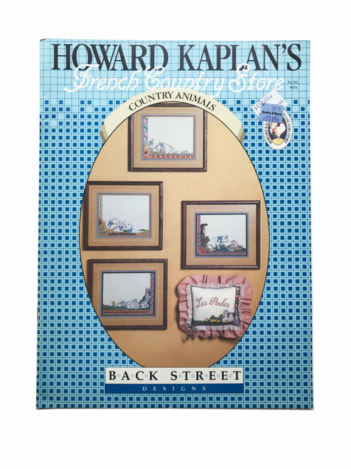 Vintage Back Street Designs Howard Kaplan's French Country Store Country Animals Cross Stitch Pattern Booklet Charts Leaflet