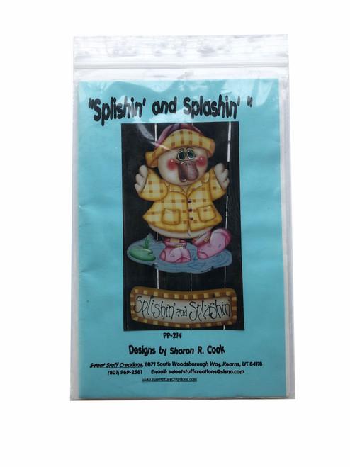 Vintage Sweet Stuff Creations No. 214 Splishin' and Splashin' by Sharon R. Cook Decorative Painting Pattern