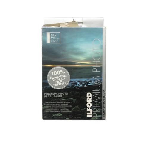 """Ilford Premium Photo Pearl Paper 4 x 6"""" 50 Sheets"""