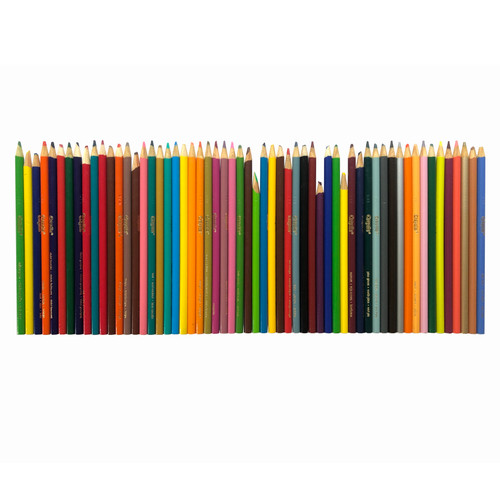 Pre-Owned Crayola Colored Pencil Assortment 59 Pencils