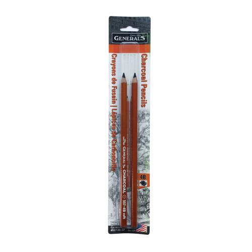 General's Charcoal Pencils Premium Artists Quality 4B 2-Pack