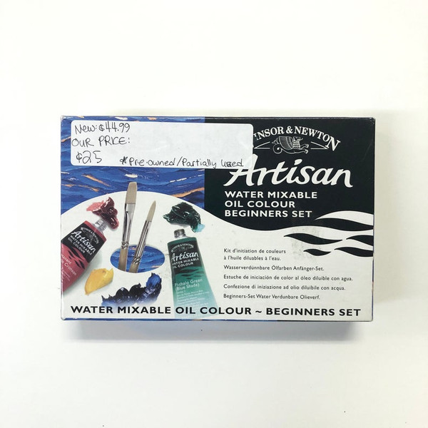 Winsor & Newton Artisan Water Mixable Oil Colour Paint Beginners Set Pre-Owned 6 Count