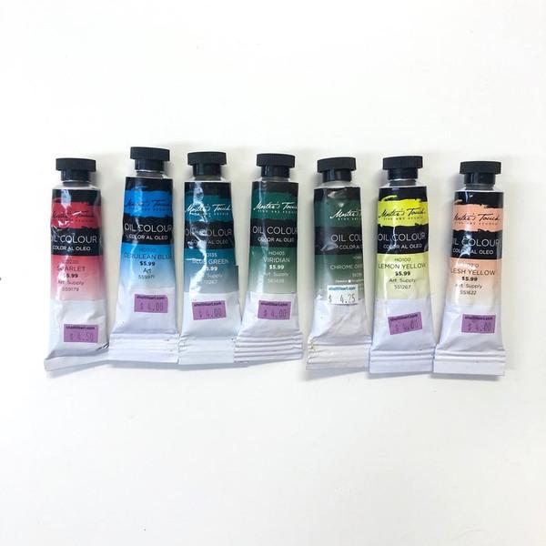 Master's Touch Fine Art Studio Oil Color Paint Pre-Owned Assortment 7 Count