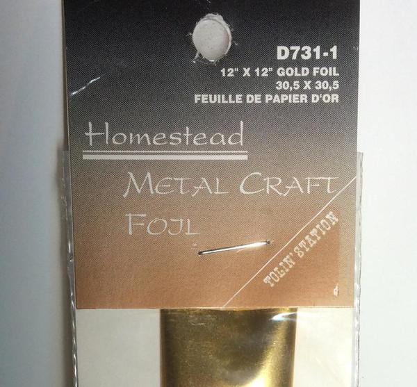 Tolin' Station Homestead Gold Metal Craft FOIL