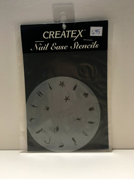 CREATEX Nail Ease Stencils NES16 UNDER the SEA