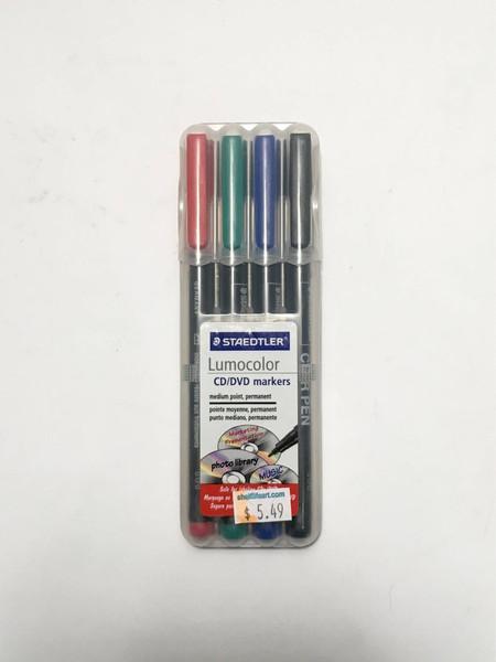 Steadtler Lumocolor Marker Set 4 pack with Bonus Easel Case