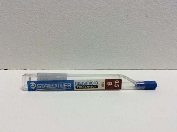 Staedtler Marsmicro Polycarbon Pencil LEAD 0.5mm B 12-Pieces