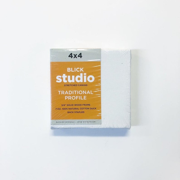 """Blick Studio Stretched Canvas Traditional Profile 4 x 4"""""""
