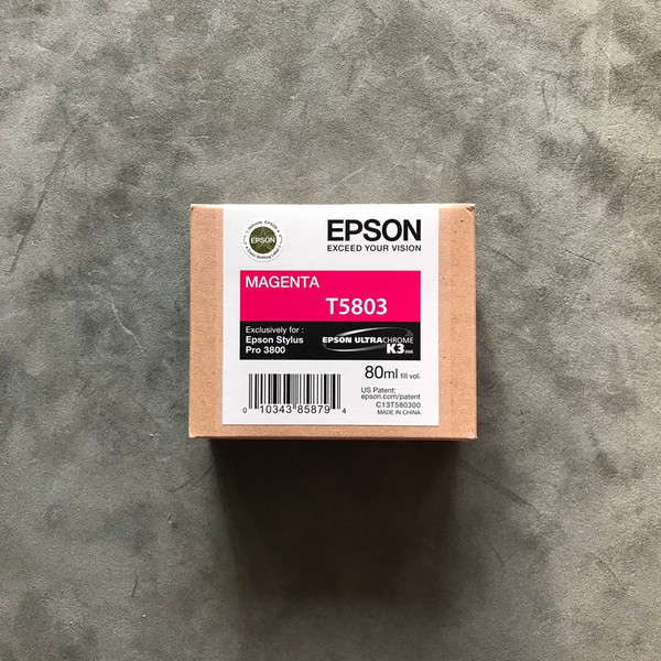 Epson Stylus Ultrachrome Pro 3800 Printer Ink Jet Cartridge No. T5803 Magenta