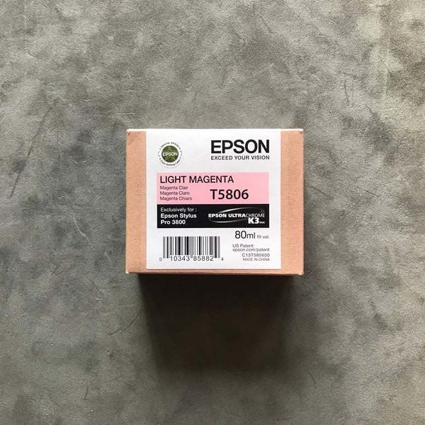 Epson Stylus Ultrachrome Pro 3800 Printer Ink Jet Cartridge No. T5806 Light Magenta