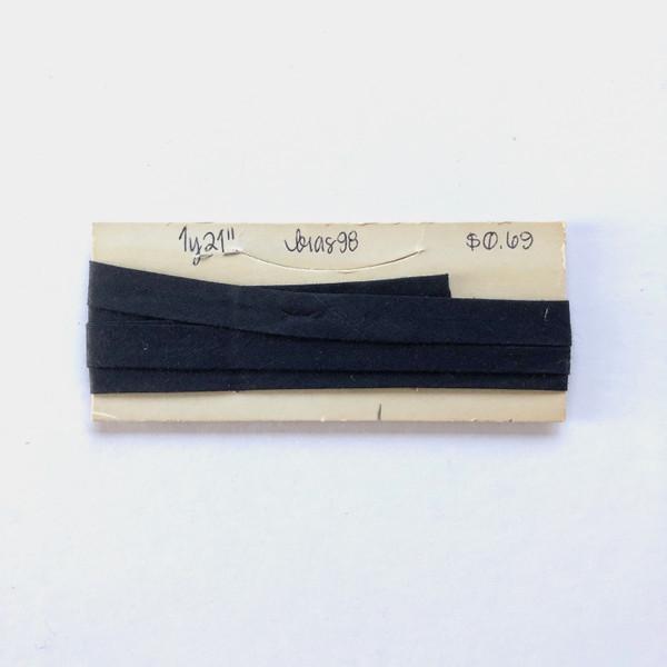 "Single Fold Bias Tape 1/2"" x 1 Yard 21"" Black"
