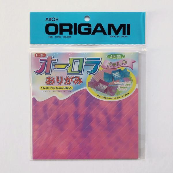 Aitoh Origami Aurora Iridescent Origami Paper 8 Sheets