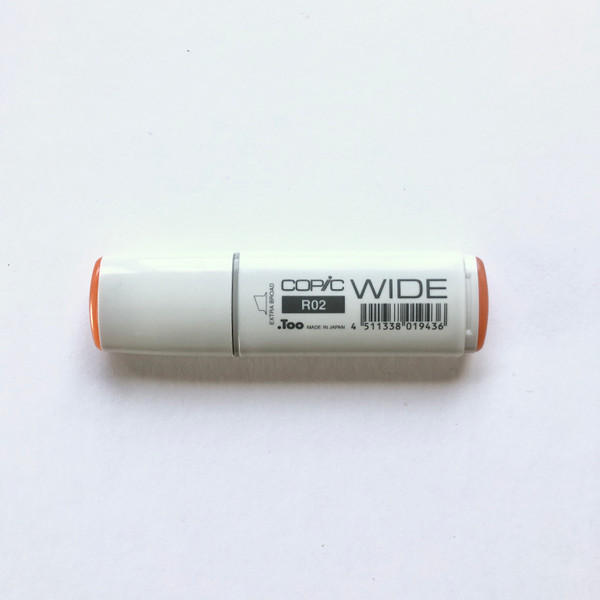 Copic Wide Marker R02 Alcohol Ink Marker Extra Broad Rose Salmon 21mm