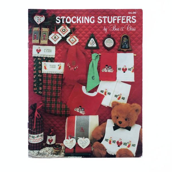 Vintage Cross Stitch Pattern Booklet Stocking Stuffers by Bea & Chris