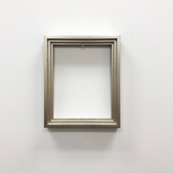 "Canvas Floater Frame 3/4"" Deep Silver Leaf Wood 8 x 10"""