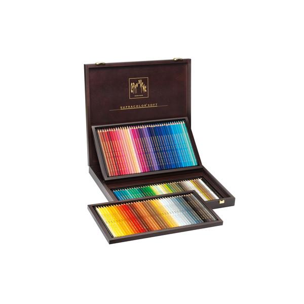 Caran D'Ache Supracolor Soft Aquarelle Watercolor Pencils Wooden Box 120 Count