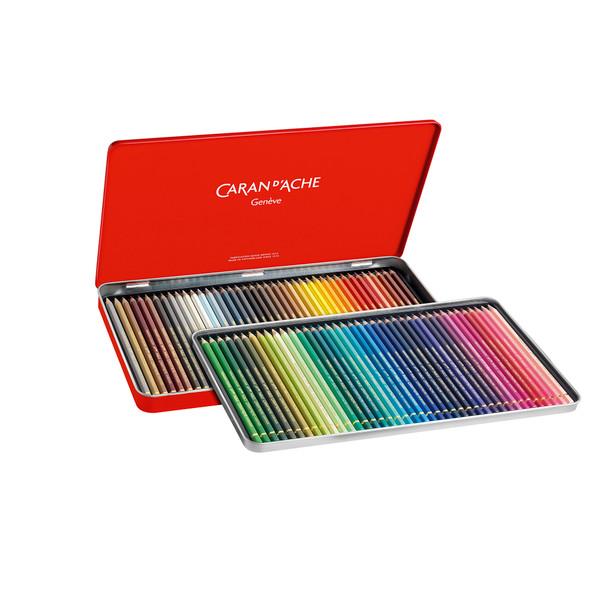 Caran D'Ache Supracolor Soft Aquarelle Watercolor Pencils Metal Box 80 Count