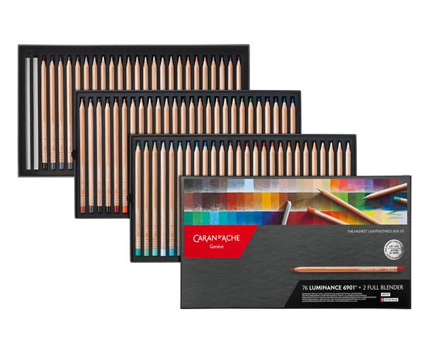 Caran D'Ache Luminance 6901 Colored Pencils Box 78 Count