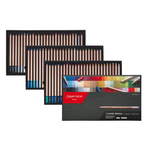 Caran D'Ache Pastel Pencils Box 78 Count