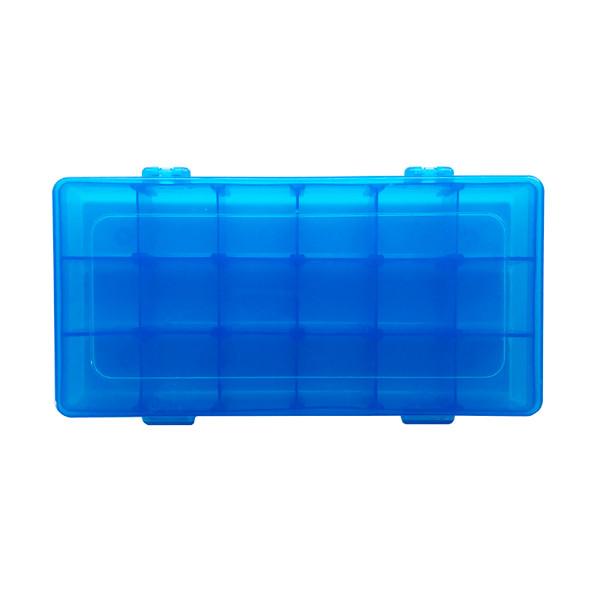 Plastic Storage Container Blue 18 Compartment Case