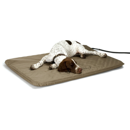 "K&H Pet Products KH1090 K&H Pet Products Lectro-Soft Heated Outdoor Bed Large Tan 25"" x 36"" x 1.5"""