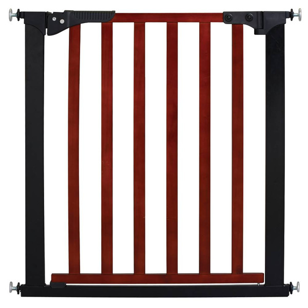 "Kidco Designer Pressure Mounted Gateway Pet Gate Cherry / Black 29"" - 27"" x 29.5"""
