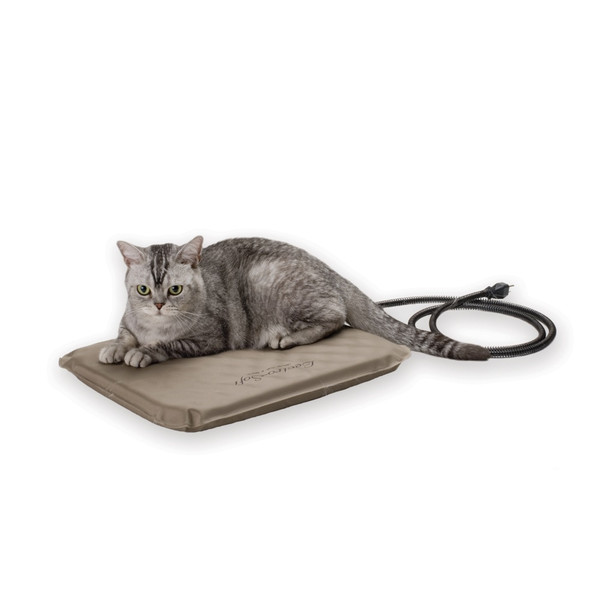 """K&H Pet Products KH1070 K&H Pet Products Lectro-Soft Heated Outdoor Bed Small Tan 14"""" x 18"""" x 1.5"""""""
