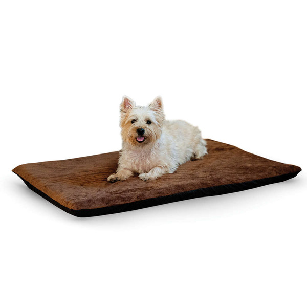 "K&H Pet Products Ortho Thermo Pet Bed Large Chocolate / Coral 24"" x 37"" x 3"""