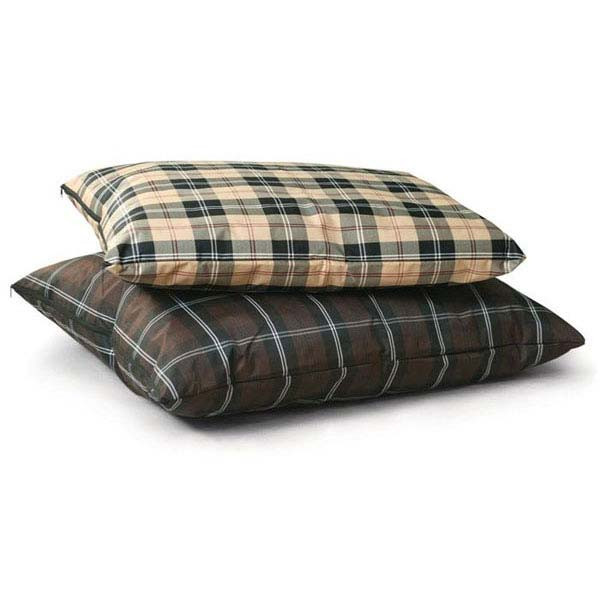 """K&H Pet Products Indoor / Outdoor Single-Seam Pet Bed Large Tan Plaid 35"""" x 44"""" x 4"""""""