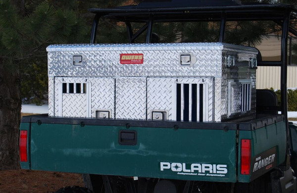 Hunter series ATV dog box with top storage