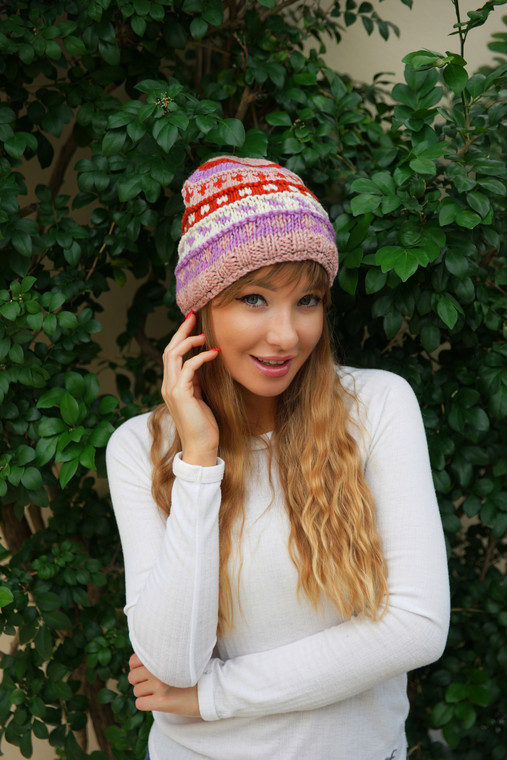 WOOL ROLLED LINED HAT