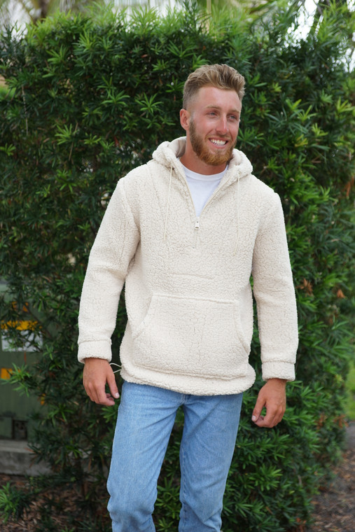 SHERPA PULLOVER SOLID NATURAL